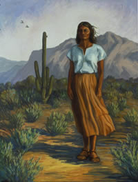 Desert Dawn -Self portrait by Cynthia West